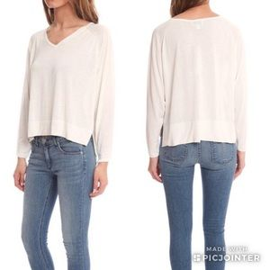 Acne Studios White Once V-Neck Slouchy Sweater S
